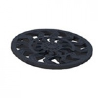 Решетка пластиковая круглая к дождеприемнику 327мм