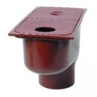 Дождеприемник пластиковый с вертикальным отводом, коричневый