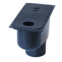 Дождеприемник пластиковый с вертикальным отводом, черный