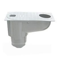Дождеприемник пластиковый с вертикальным отводом, серый