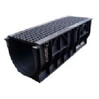 Комплект: Лоток DN300 водоотводящий пластиковый с чугунной ячеистой решеткой