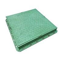 Люк пластиковый квадратный 680х680х80 (зел., красн., сер)
