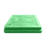 Люк полимерпесчаный легкий 400×450, с замком, А15, зеленый