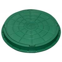 Люк садовый пластмассовый легкий, зеленый