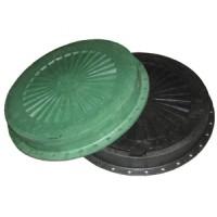 Люк пластмассовый легкий №3, зел, сер, коричн, с замком
