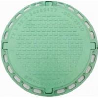 Люк садовый пластмассовый легкий № 2, зеленый ,красный, серый, терракот